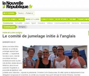 2013 Nouvelle Republique Article