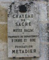 Château de Saché panneau