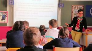 20151003 Christine at School