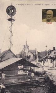 1866 Sorigny - Vue generale et Mairie (2)