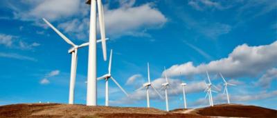Une ferme des éoliennes A WindFarm