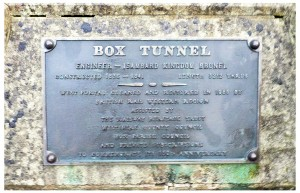 Box Tunnel sign