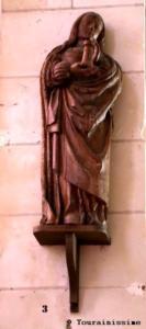 Sorigny Eglise St-Pierre-es-Liens statue Ste Barbe